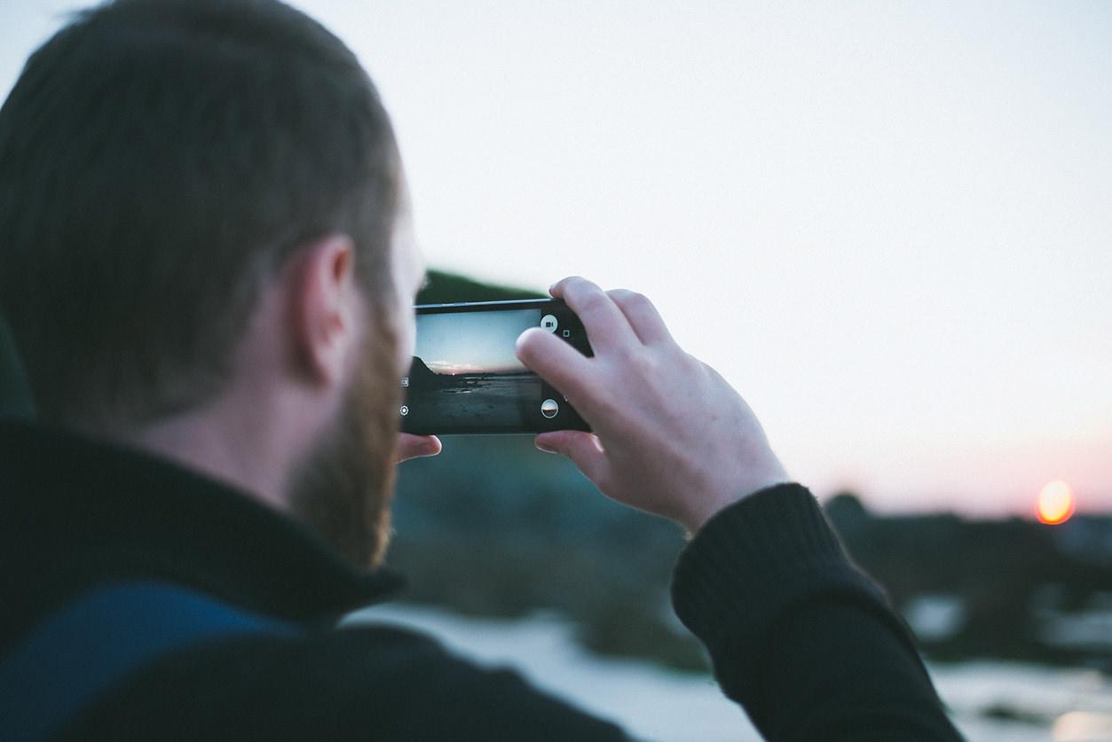 Fotografando paisagem com celular