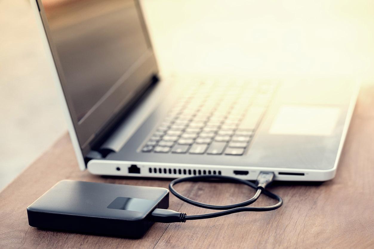 Backup do notebook para um HD externo